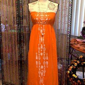 Long strapless Rip Curl beach dress